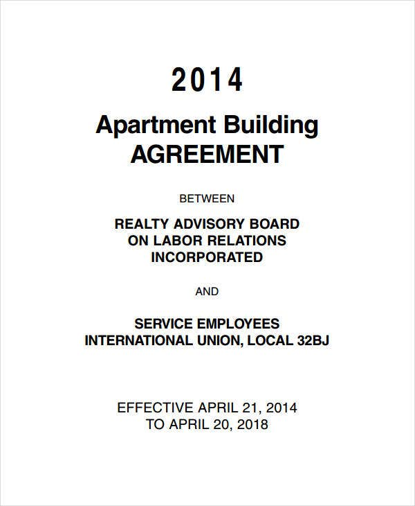 apartment building agreement
