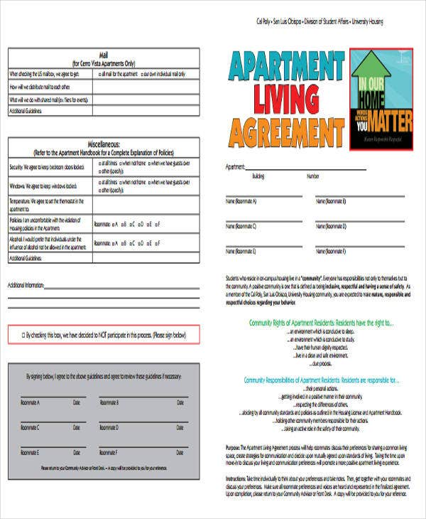 apartment living agreement