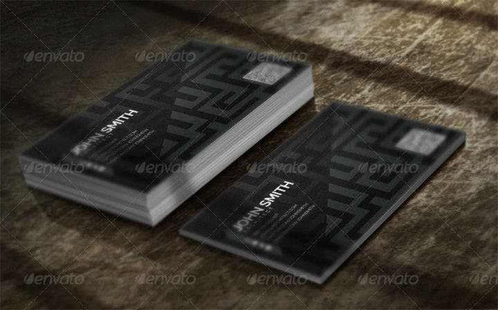 architect maze business card template set