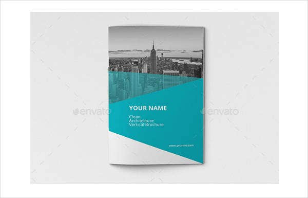 architecture vertical brochure template