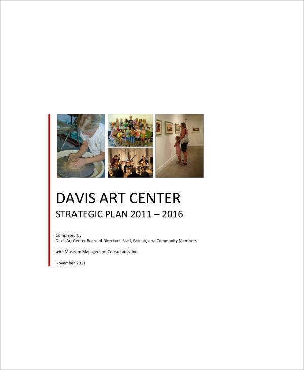 Art Center Strategic Plan Sample