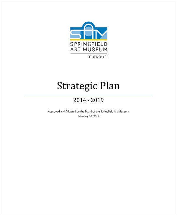 Art Museum Strategic Plan Template