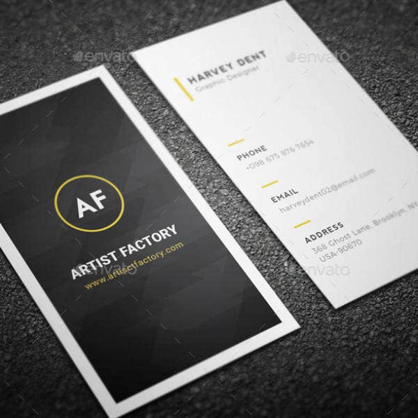Artistic Minimal Business Card