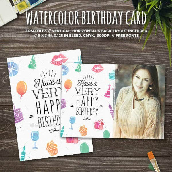 Artistic Personalized Birthday Card