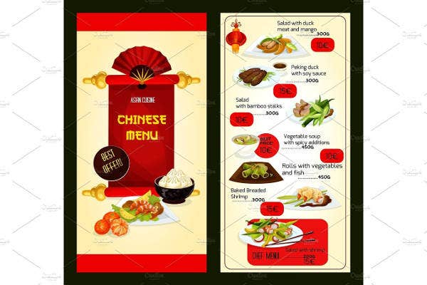 Asian Cuisine Chinese Menu Template