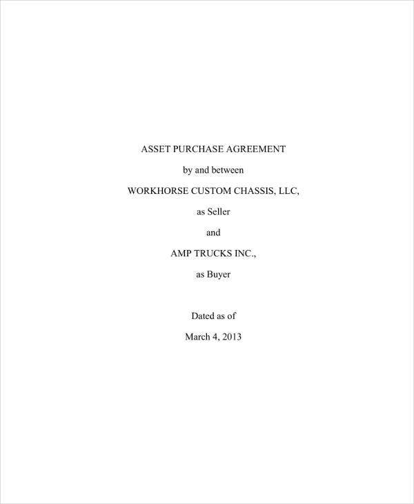 Asset Transfer-Purchase Agreement
