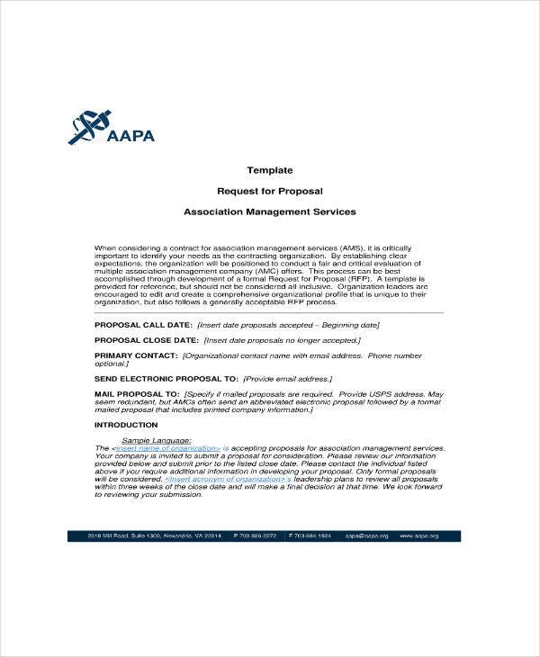 Association Management Proposal Template