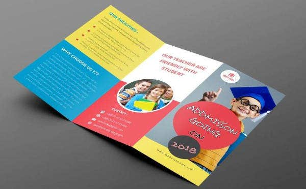 Back To School Trifold Brochure Template