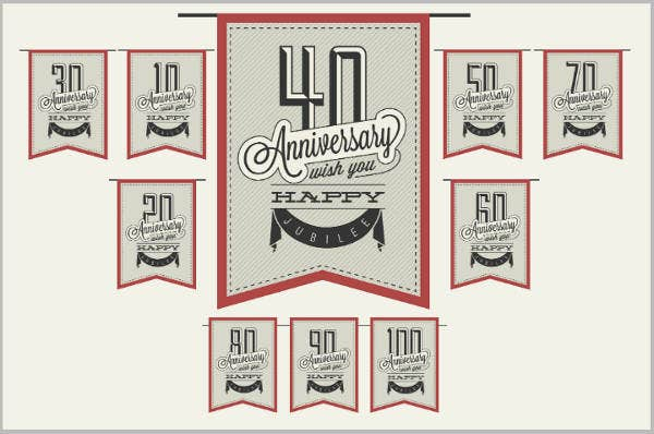 Banner Style 50th Wedding Anniversary Invitation Card