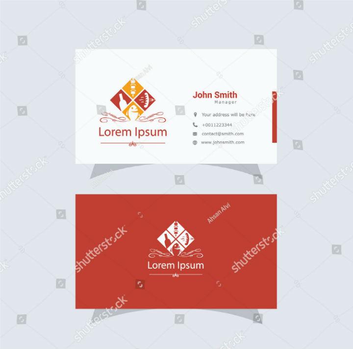 14+ Fast Food Business Card Templates - PSD, AI | Free & Premium ...
