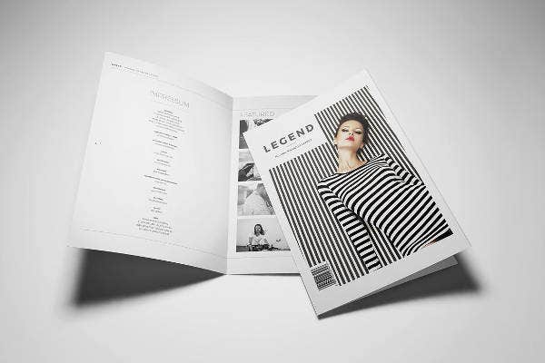 Beautiful Minimal Magazine Template