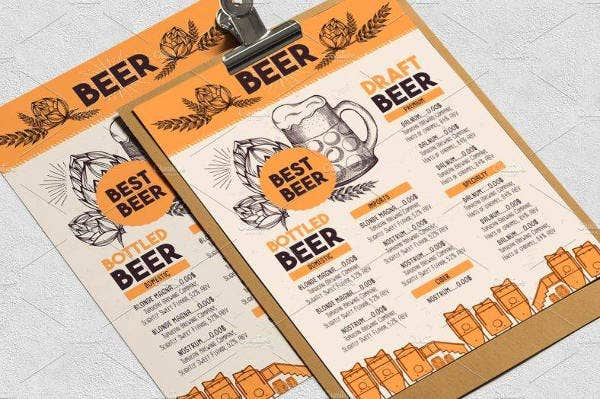 Beer Menu Sample Bundle