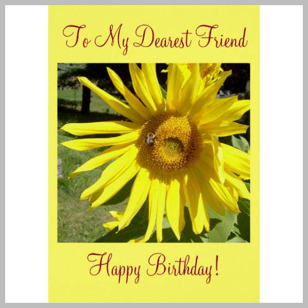 Best Friend Happy Birthday Card