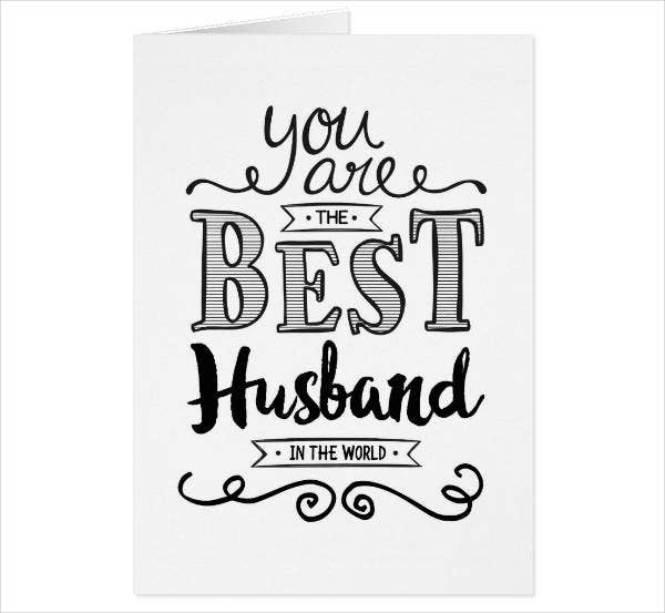 best husband birthday card template