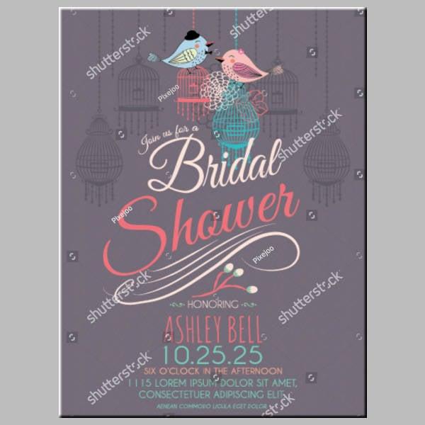 Birds Modern Bridal Shower Card