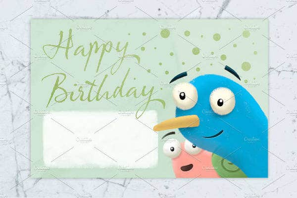Birthday Card Template for Kids Market