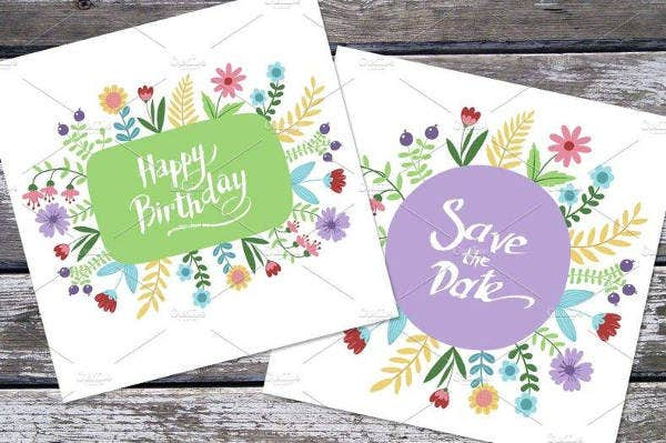 Birthday Greeting Invitation Card