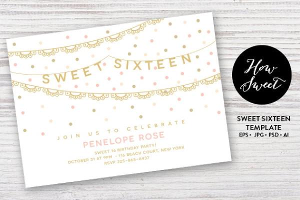 birthday invitation for sweet sixteen1
