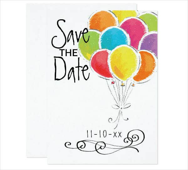 Birthday Party Save the Date Invitation Template
