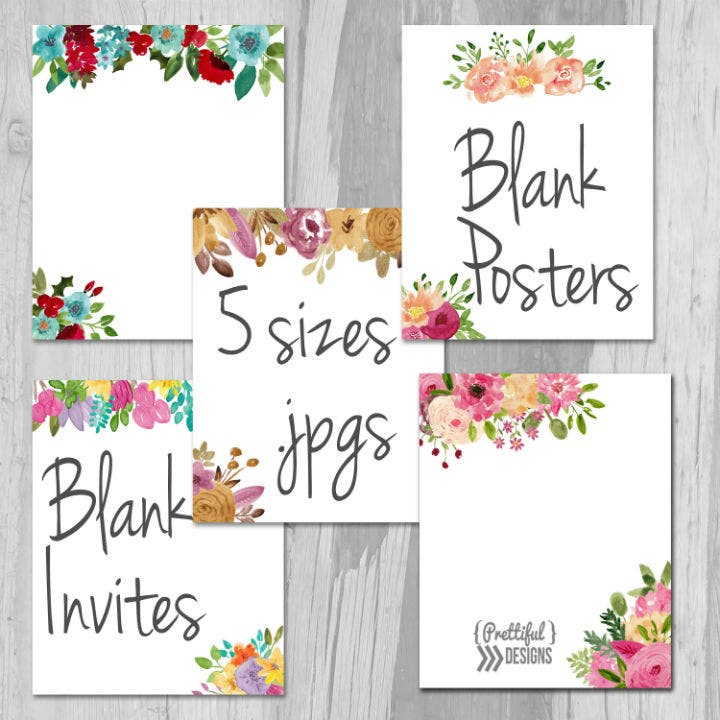 Wedding Invitation Templates Blank Downloadable: 14+ Blank Wedding Invitation Templates - PSD, AI