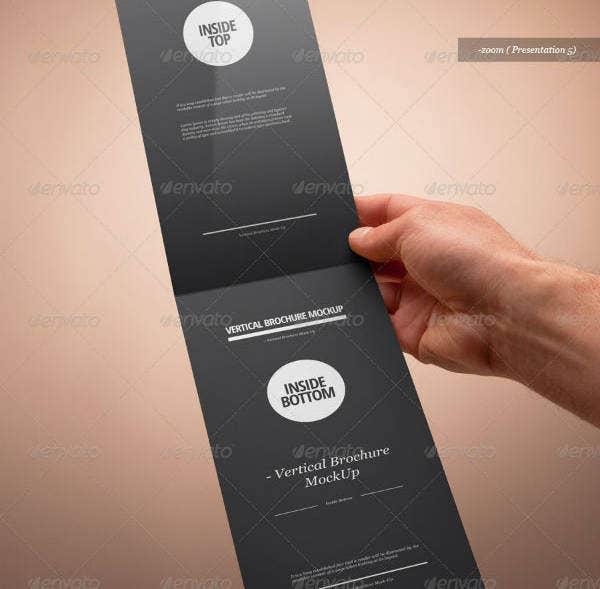 Blank Vertical Brochure Template