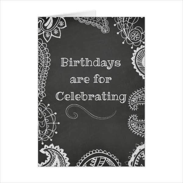 Bohemian Chalkboard Birthday Card