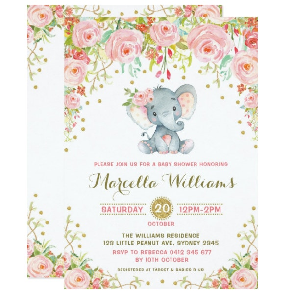 boho-floral-elephant-invitation-pink-baby-shower
