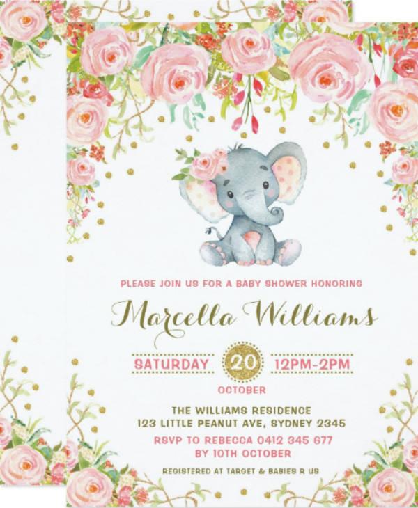 Boho Floral Invitation for Baby Shower