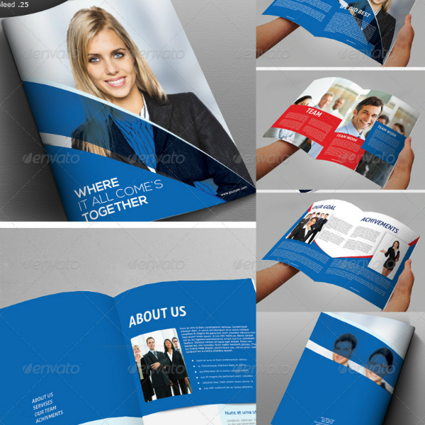 Book Style Consulting Business Brochure Template