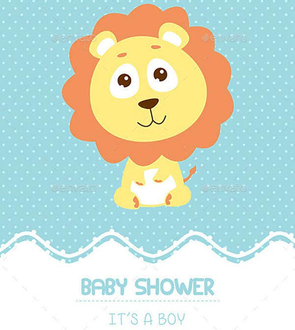 Boy Baby Shower Invitation Sample