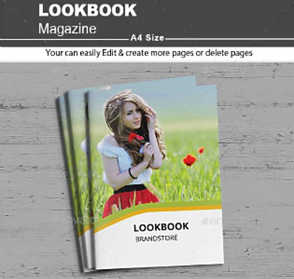 brand lookbook magazine template