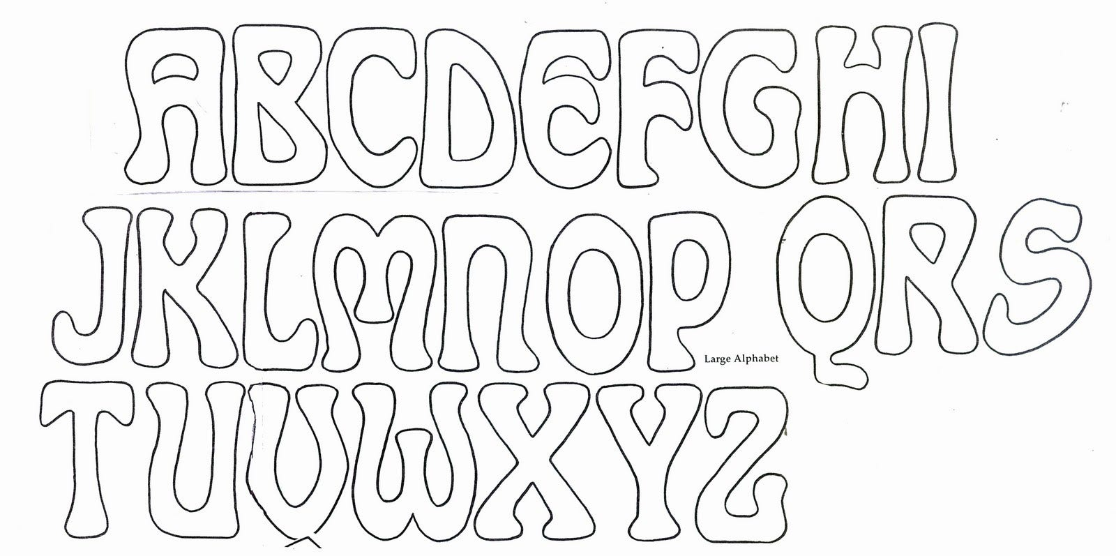 bubble letter outline template