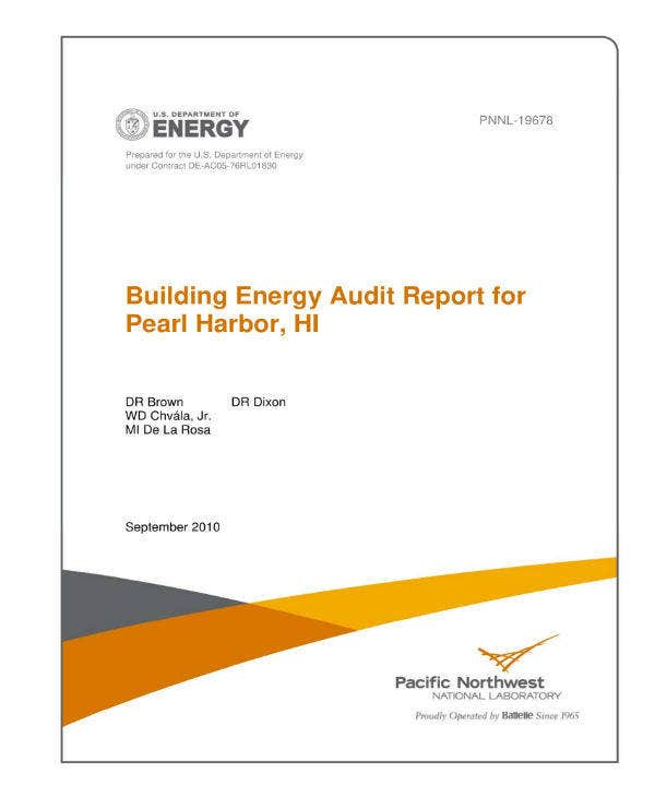 building energy audit report