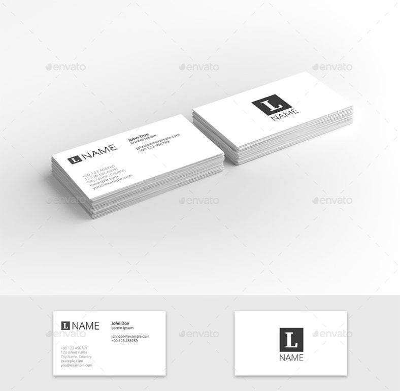 9 clean business cards free amp premium templates