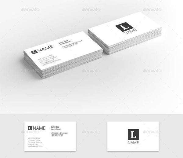 9 clean business card designs templates psd ai free business card presentation template wajeb Gallery