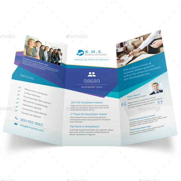 Business Consulting Service Brochure Trifold Template