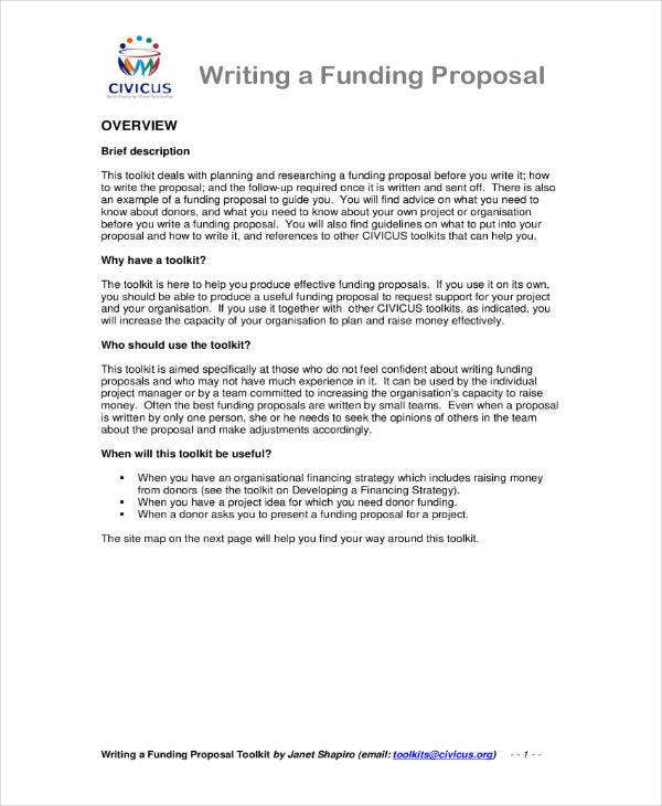 business investment funding proposal sample
