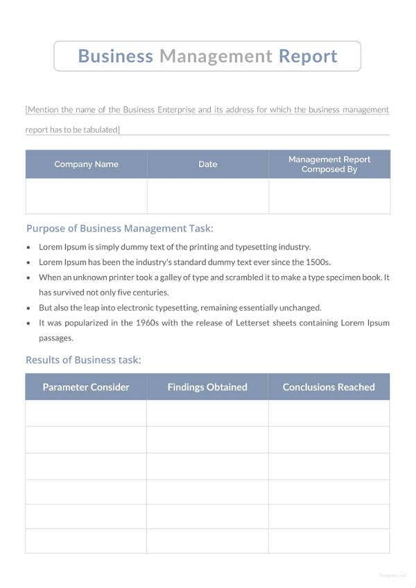 business management report1