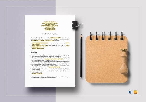 business-partnership-contract-template
