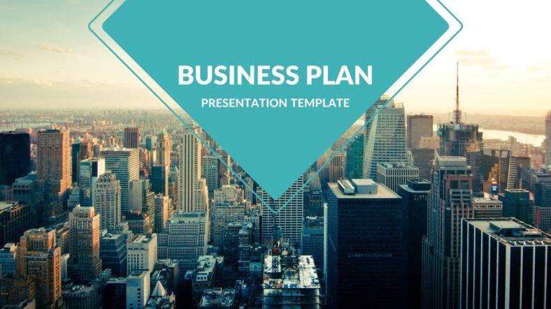 business plan simple powerpoint template 788x443