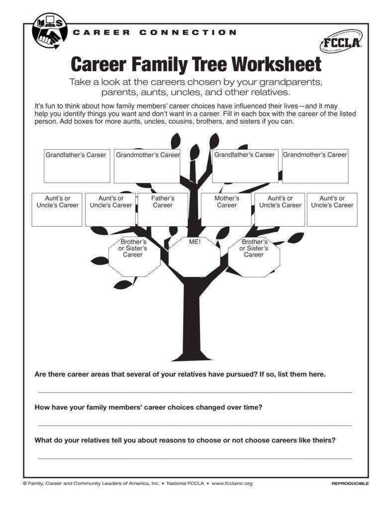 career family tree example template