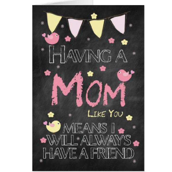 Chalkboard Birthday Card for Mom