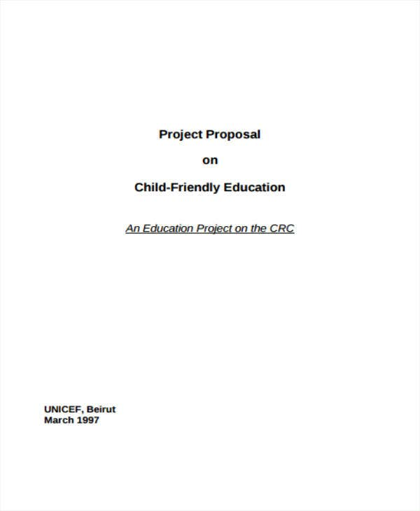 child friendly education project proposal