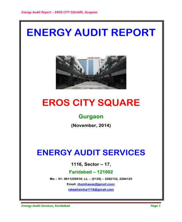 city square energy audit report