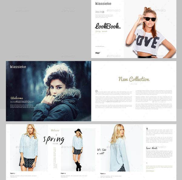 Classic Summer Lookbook Template