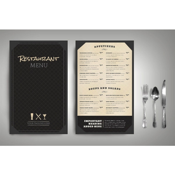classic and fancy menu template package