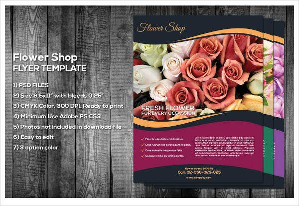 Classy Flower Shop Flyer Template