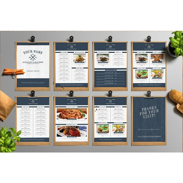 classy and fancy menu template