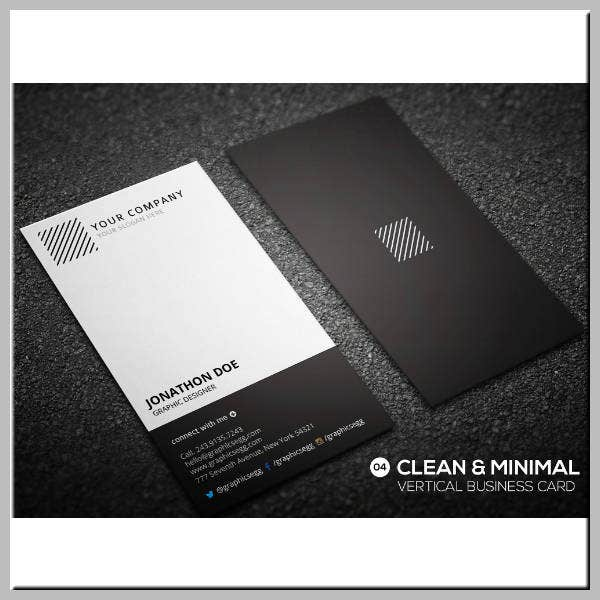 Clean & Minimal Business Card Template