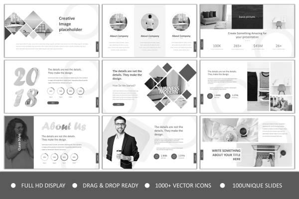 Clean Minimal Powerpoint Design